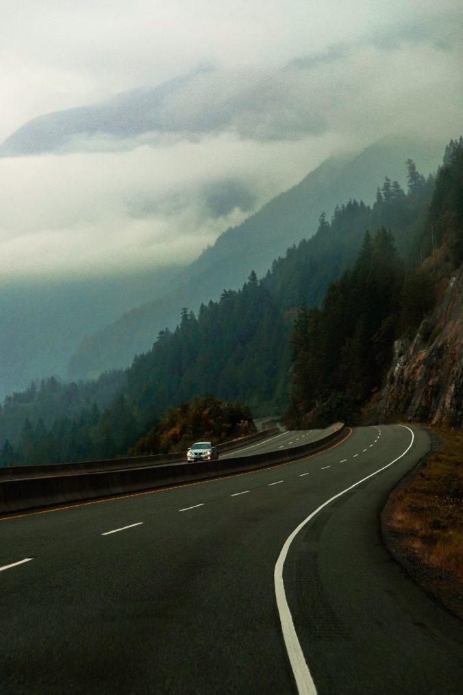 Sea To Sky Highway in BC, Canada